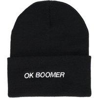 A.Lab Ok Boomer Beanie negro