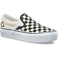 Vans Checkerboard Classic Platform Slip-Ons negro