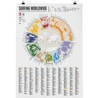 Get Wet Soon Surfing Worldwide Map estampado