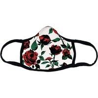 Empyre White Rose Cloth Mask blanco