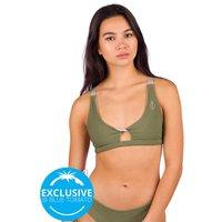 Zealous Twist Surf Top Bikini Top verde