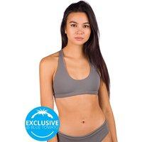 Zealous Signature Surf Top Bikini Top gris