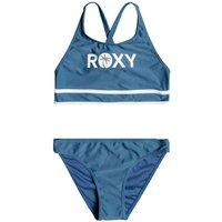 Roxy Perfect Surf S Time Crop Top Bikini Set azul