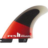 FCS II Accelerator PC Lrge Tri Retail Fin Set rojo