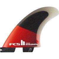 FCS II Accelerator PC Med Tri Retail Fin Set rojo