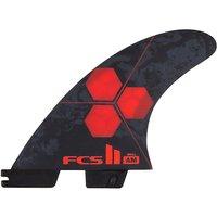 FCS II AM PC Small Tri Retail Fin Set rojo