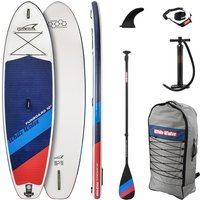 White Water Funboard 10'2 Set SUP Paddle azul