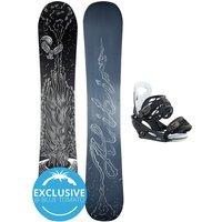 Alibi Snowboards Soulfire 135 + Burton Smalls L 2021 Snowboard Set estampado