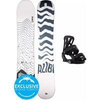 Alibi Snowboards Motive 155 + Burton Infidel M 2021 Snowboard Set estampado