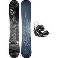 Alibi Snowboards Soulfire 145 + Burton Smalls L 2021 Snowboard Set estampado