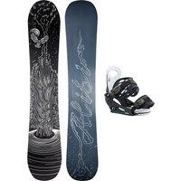 Alibi Snowboards Soulfire 142 + Burton Smalls L 2021 Snowboard Set estampado