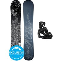 Alibi Snowboards Soulfire 148 + Burton Infidel S 2021 Snowboard Set estampado