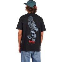 Welcome Bird Brain Garment Dyed T-Shirt negro