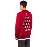 Volcom Santastone Pullover rojo