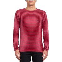 Volcom Harweird Stripe II Pullover rojo