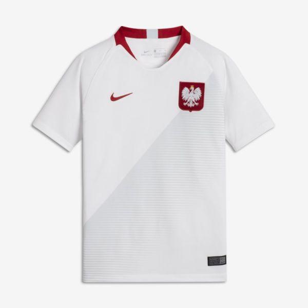 2018 Poland Stadium Home Camiseta de fútbol - Niño/a - Blanco