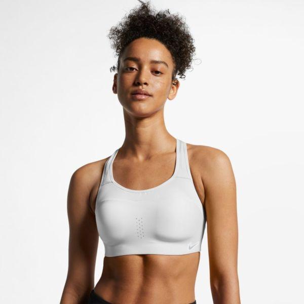 Nike Dri-FIT Alpha Sujetador deportivo de sujeción alta - Mujer - Blanco