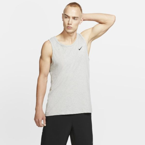 Nike Dri-FIT Camisetas de tirantes de entrenamiento - Hombre - Gris
