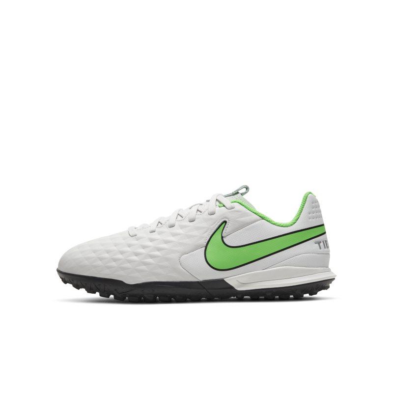 Nike Jr. Tiempo Legend 8 Academy TF Botas de fútbol para hierba artificial o moqueta - Turf - Niño/a y niño/a pequeño/a - Gris