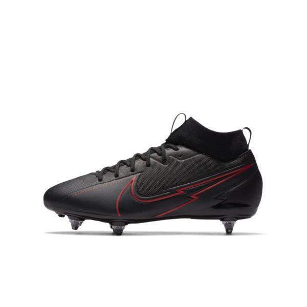 Nike Jr. Mercurial Superfly 7 Academy SG Botas de fútbol para terreno blando - Niño/a y niño/a pequeño/a - Negro