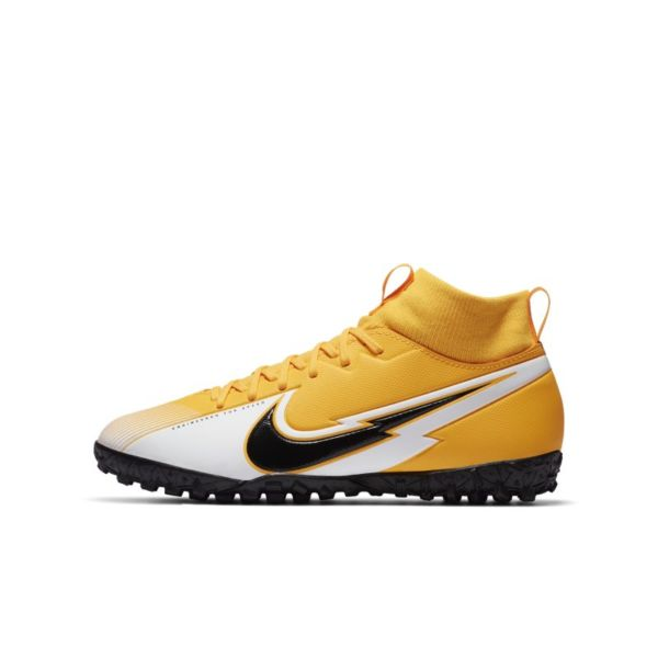 Nike Jr. Mercurial Superfly 7 Academy TF Botas de fútbol para hierba artificial o moqueta - Turf - Niño/a y niño/a pequeño/a - Naranja