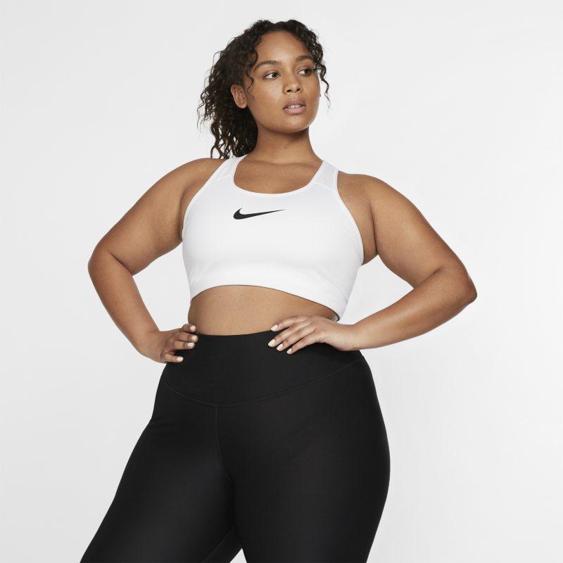 Nike Swoosh Sujetador deportivo de sujeción media sin almohadilla - Mujer - Blanco