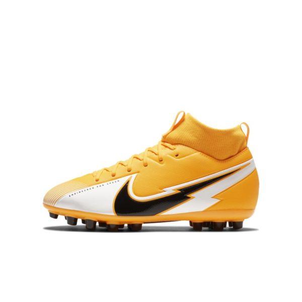 Nike Jr. Mercurial Superfly 7 Academy AG Botas de fútbol para césped artificial - Niño/a y niño/a pequeño/a - Naranja