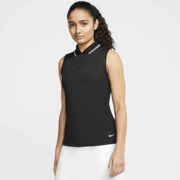 Nike Dri-FIT Victory Polo de golf sin mangas - Mujer - Negro