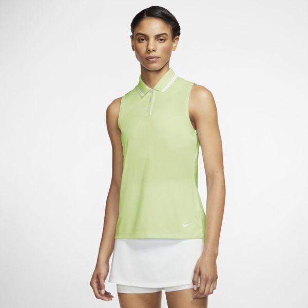 Nike Dri-FIT Victory Polo de golf sin mangas - Mujer - Verde