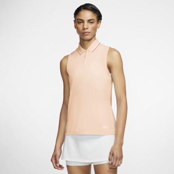 Nike Dri-FIT Victory Polo de golf sin mangas - Mujer - Naranja
