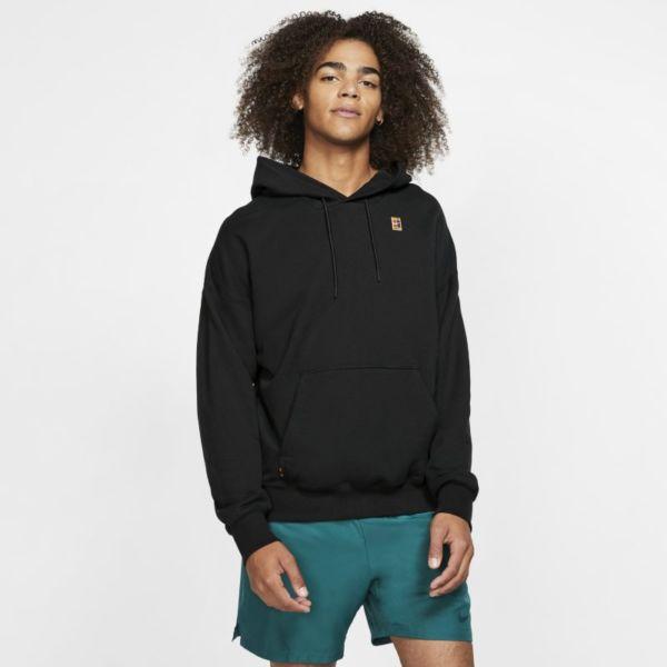NikeCourt Sudadera con capucha de tenis de tejido Fleece - Hombre - Negro