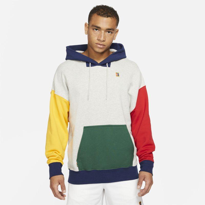 NikeCourt Sudadera con capucha de tenis de tejido Fleece - Hombre - Gris