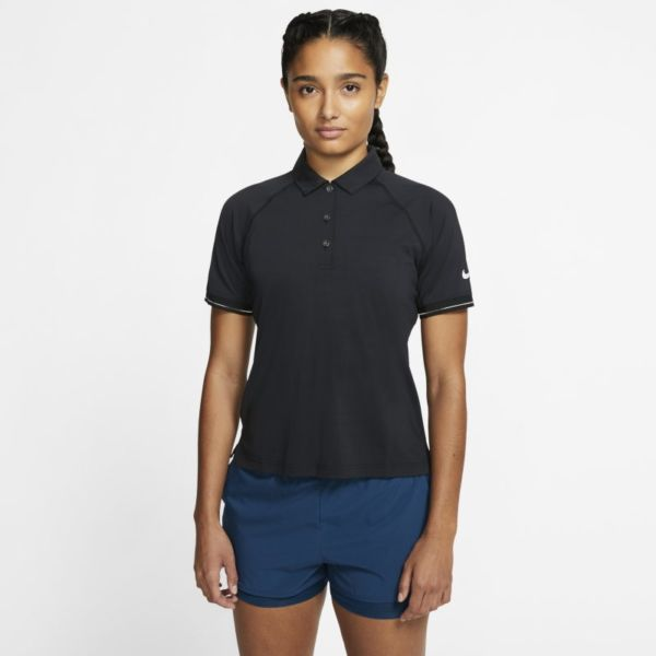 NikeCourt Polo de tenis - Mujer - Negro