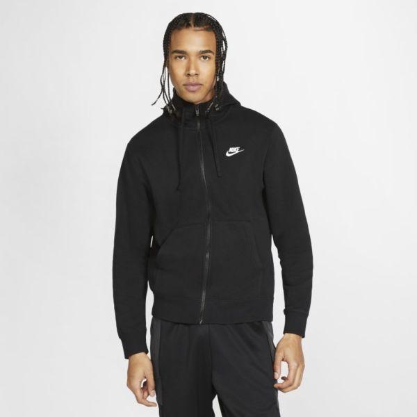 Nike Sportswear Club Fleece Sudadera con capucha con cremallera completa - Hombre - Negro
