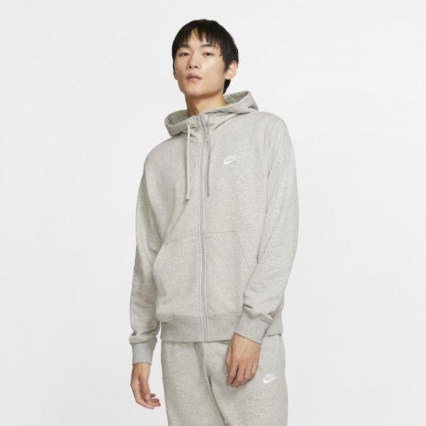 Nike Sportswear Club Sudadera con capucha con cremallera completa - Hombre - Gris