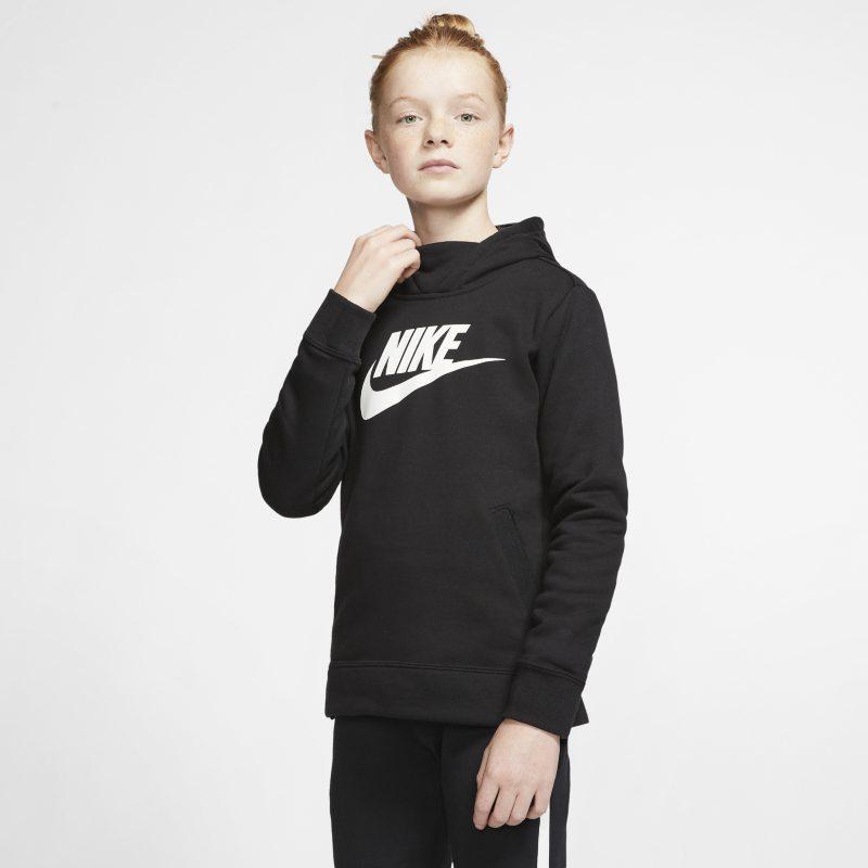 Nike Sportswear Sudadera con capucha - Niña - Negro