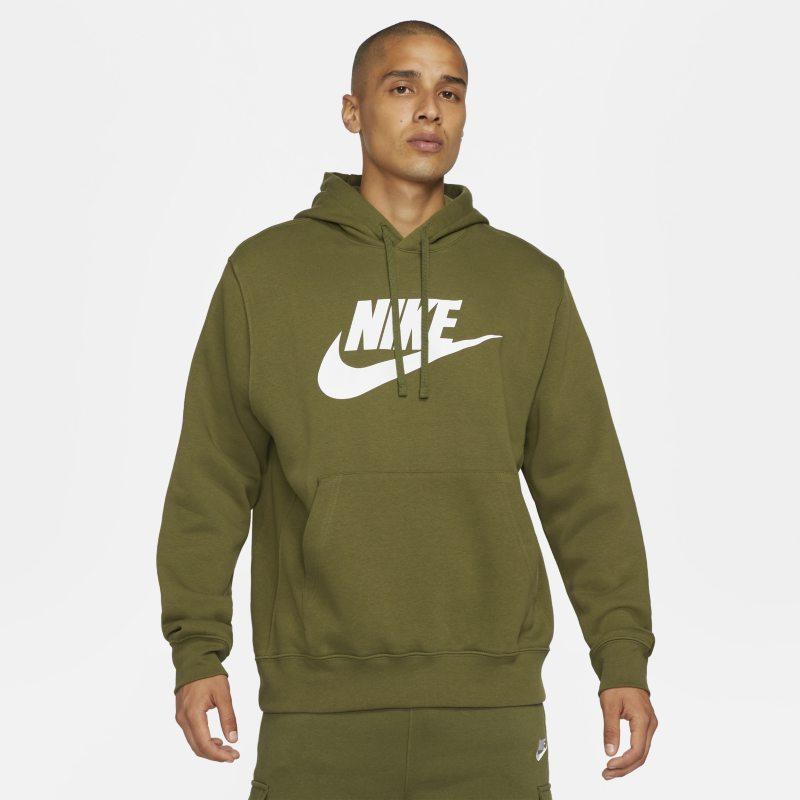 Nike Sportswear Club Fleece Sudadera con capucha con estampado - Hombre - Verde