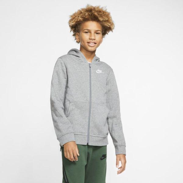 Nike Sportswear Club Sudadera con capucha y cremallera completa - Niño/a - Gris