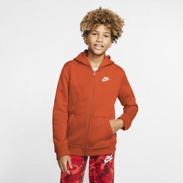 Nike Sportswear Club Sudadera con capucha y cremallera completa - Niño/a - Naranja