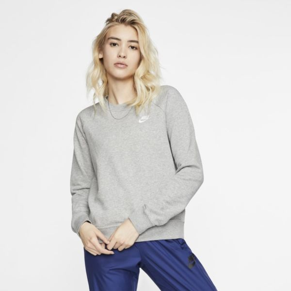 Nike Sportswear Essential Sudadera de tejido Fleece - Mujer - Gris