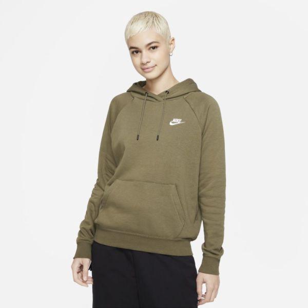 Nike Sportswear Essential Sudadera con capucha de tejido Fleece - Mujer - Marrón