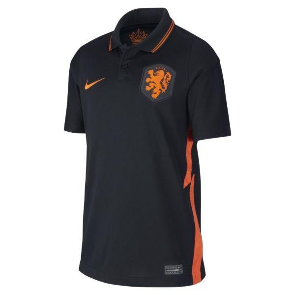 Camiseta de fútbol de la segunda equipación Stadium de Países Bajos 2020 - Niño/a - Negro