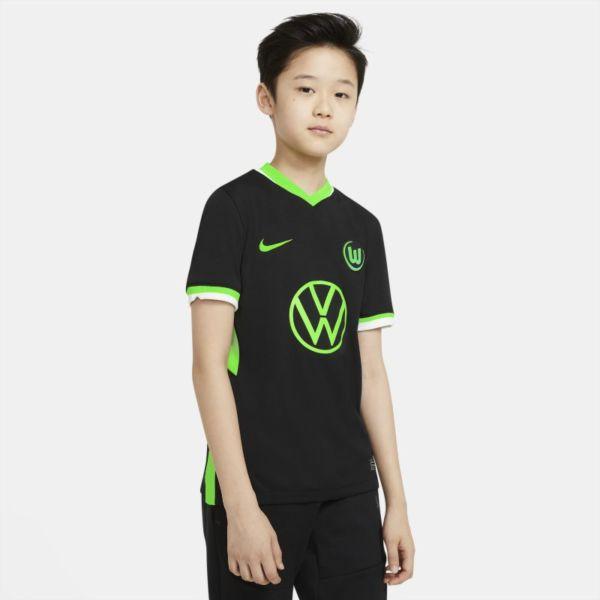 Segunda equipación Stadium VfL Wolfsburg 2020/21 Camiseta de fútbol - Niño/a - Negro