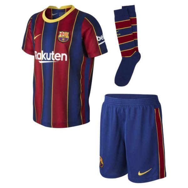 Primera equipación FC Barcelona 2020/21 Equipación de fútbol - Niño/a pequeño/a - Azul