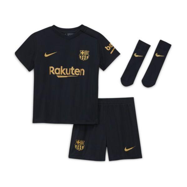 Segunda equipación FC Barcelona 2020/21 Equipación de fútbol - Bebé e infantil - Negro