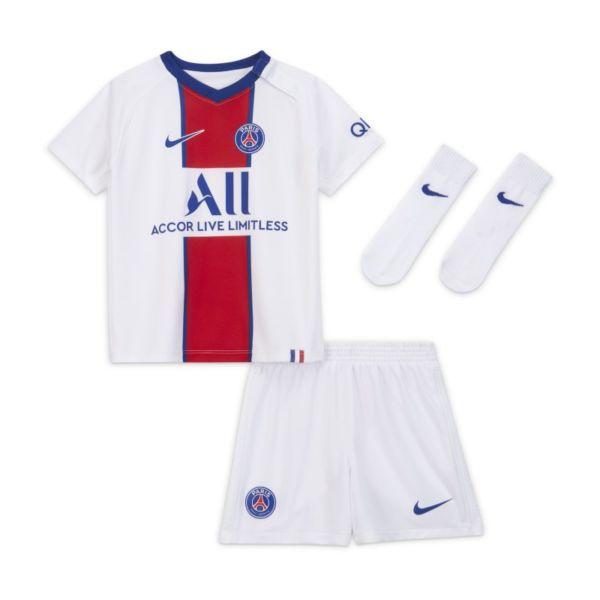 Segunda equipación París Saint-Germain 2020/21 Equipación de fútbol - Bebé e infantil - Blanco
