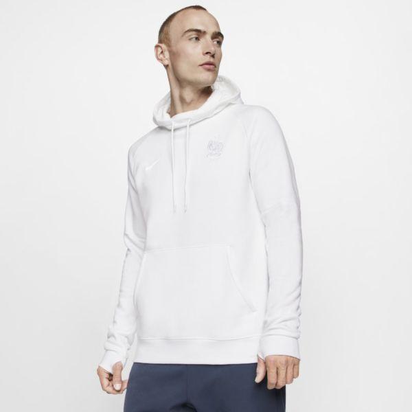 FFF Sudadera con capucha de fútbol de tejido Fleece - Hombre - Blanco