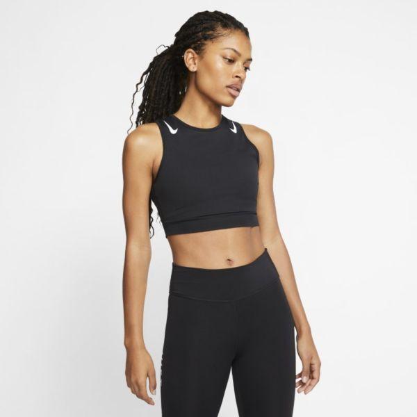 Nike AeroSwift Camiseta corta de running - Mujer - Negro