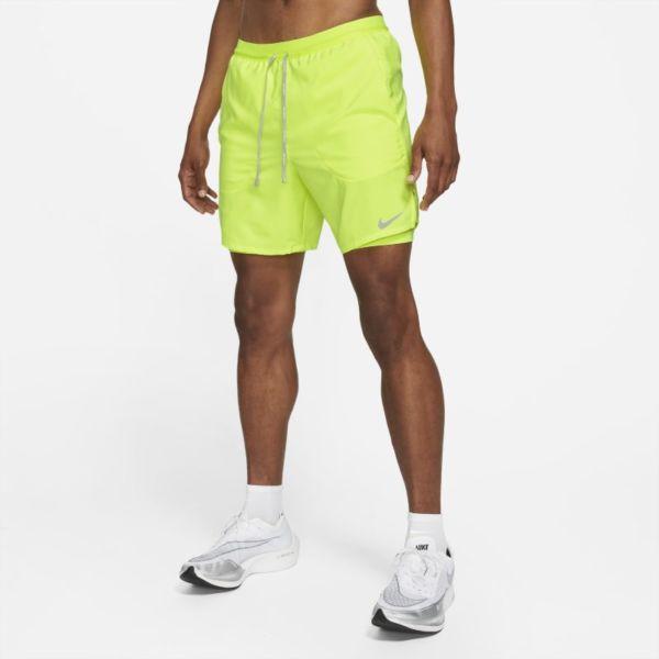Nike Flex Stride Pantalón corto de running 2 en 1 de 18 cm - Hombre - Amarillo