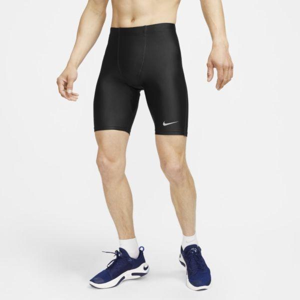 Nike Dri-FIT Fast Mallas de running de 1/2 - Hombre - Negro